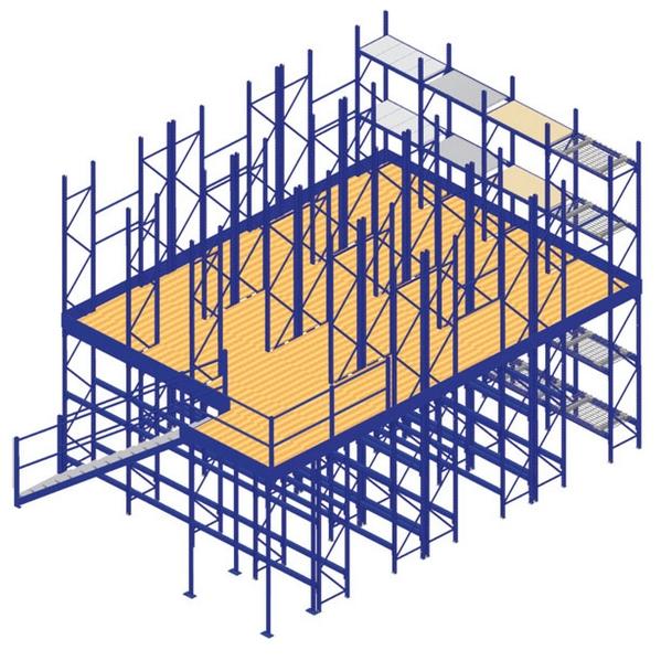 Storite shelving supported mezzanine